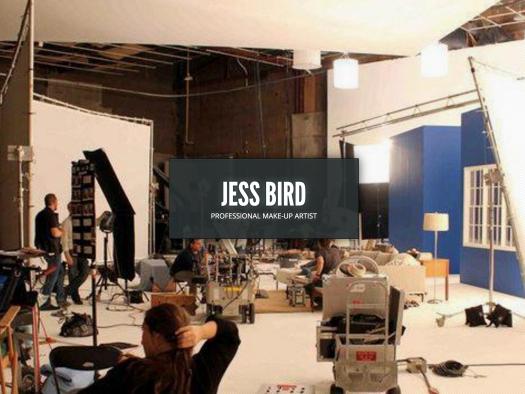 jess bird professional make-up artist website design
