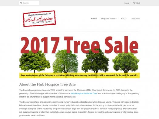 hub hospice palliative care tree sale